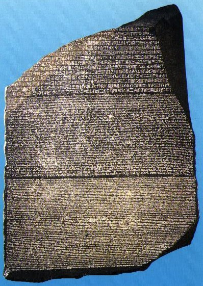 Then in 1799, one of Napoleon's officers discovered the Rosetta Stone