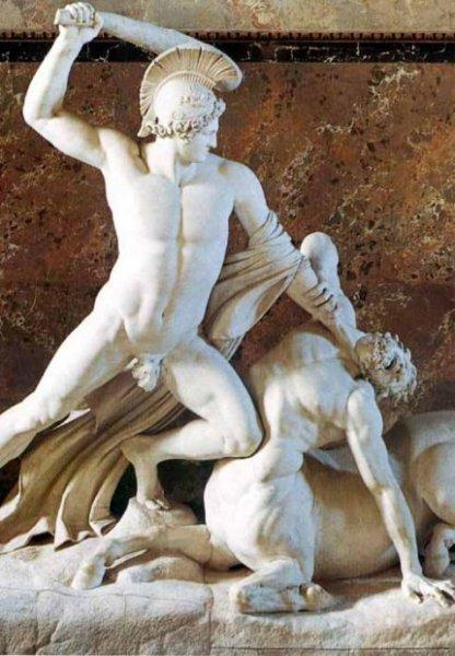 повествующих о невероятных приключениях сына посейдона - тесея, победившего минотавра и прокруста